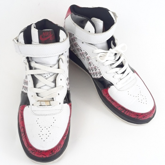 Nike Shoes Air Force 1 High Top Red Black White Mens Poshmark